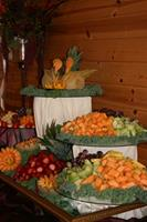 Fresh Fruit Display <br /> with Love Birds