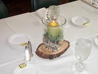 Candle and Greenery Centerpiece
