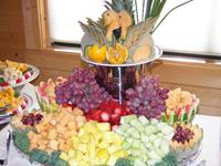 Fruit Display with Love Birds