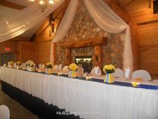 Click to view album: Ballroom Head Tables & Harvest Tables