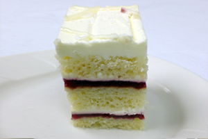 The Grands White Chocolate Raspberry Torte