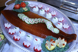 Honey Smoked Salmon Display